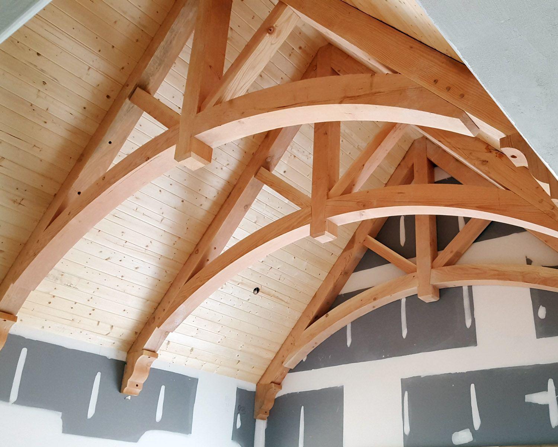 Decorative wood trusses