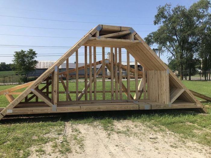Custom trusses for Richmond IN.